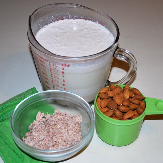 Fresh made Almond Milk