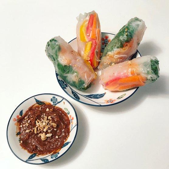 Spicy Vegetarian Salad Rolls