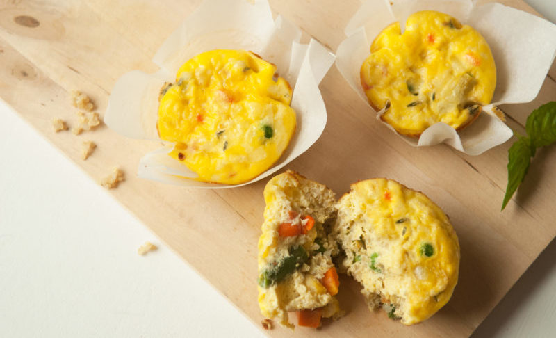 Mini quiche-muffin aux légumes