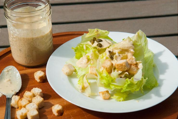 Salade César à l'Hummus