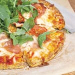 Pizza a base de chou-fleur
